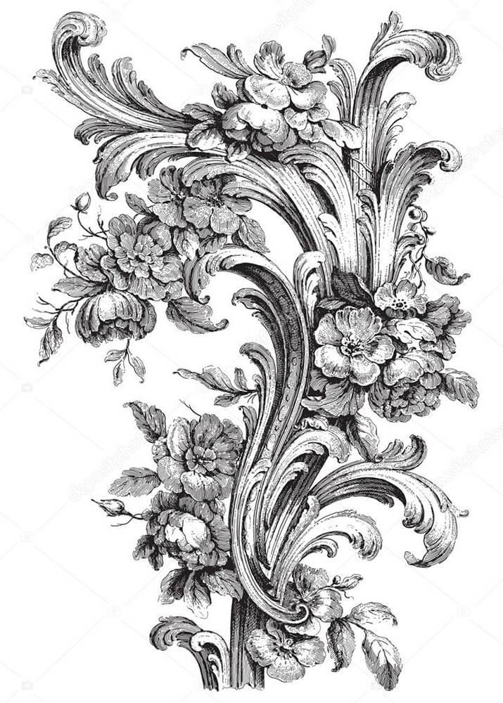 Постер изображение лепнины  - фото