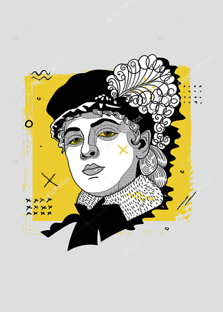 Постер классический портрет в новом исполнении  - фото