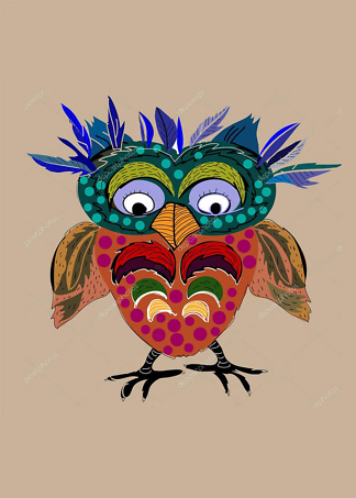 Постер мультяшная птичка  - фото