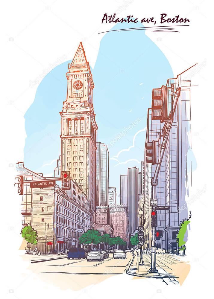 Постер небоскребы  - фото