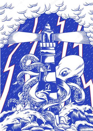 Постер осьминог 186315114  - фото