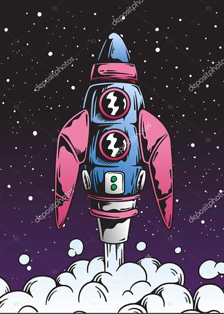 Постер ракета  - фото
