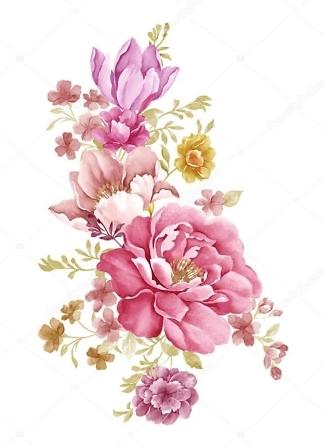 Постер цветы акварельные  - фото