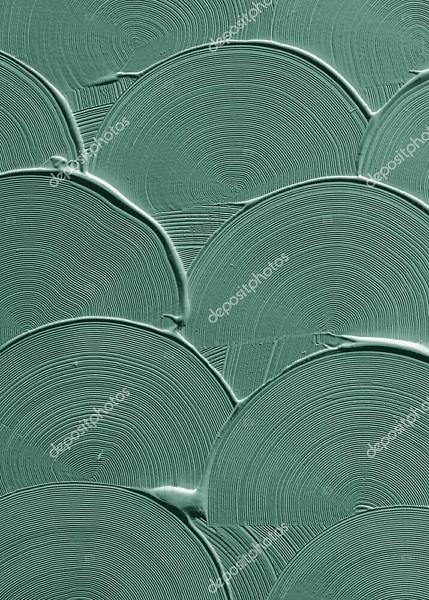 Постер волны зеленой краски  - фото