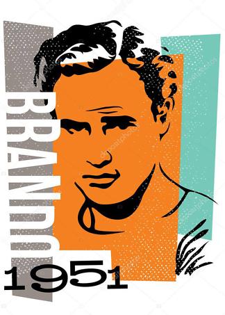 постер Марлон Брандо  - фото