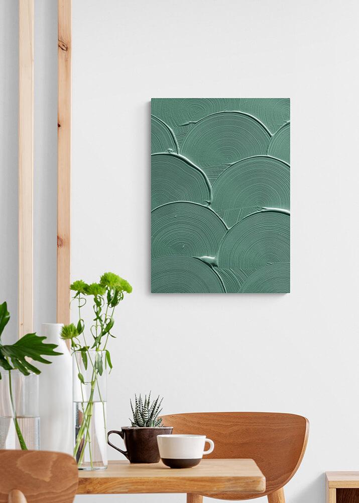 Постер волны зеленой краски  - фото 2