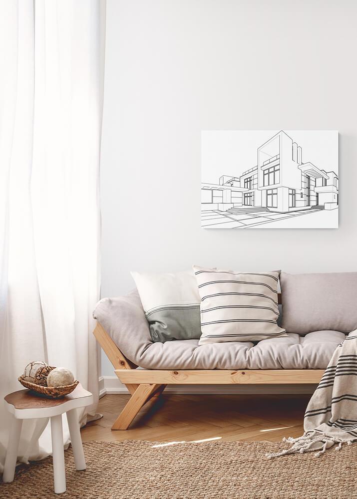 Постер линейный рисунок архитектуры  - фото 2