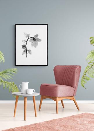 Постер монохромный цветок  - фото 2