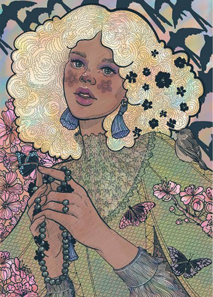 Постер Весенняя девушка  - фото